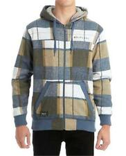 Size S Mens Rip Curl CONNECT ZIP THRU HOOD SHERPA LINED Hoody Jacket - Blue