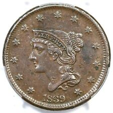 1839 N-8 PCGS XF 45 Type of 1840 Braided Hair Large Cent Coin 1c