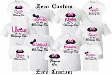 Happy Birthday Girl T Shirt Mickey Disney Minnie MOM DAD Family
