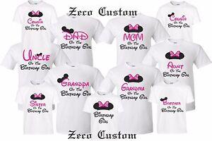 Happy Birthday Girl T-shirt Mickey birthday girl Disney Minnie MOM DAD family