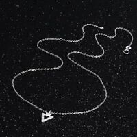 Elegant Woman Fashion Silver Charm Chain Necklace Pendant 925 Sterling Jewelry