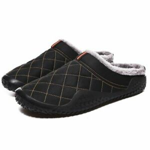 Men Slippers Winter Outdoor Water Proof Cold Proof Casual Plush Slip On Shoes
