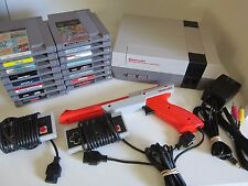 Nintendo NES-001 console Bundle, Huge Lot 16 games, 2 controllers, gun