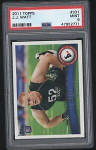 2011 Topps JJ J.J. WATT RC Rookie Card #331 Texans Mint PSA 9
