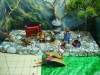 SAMURAI/ASIAN  WARRIORS PLASTIC/METAL AND CERAMIC  RARE DEAL LOT #9!!!