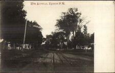 Epsom NH Elm Ave c1910 Real Photo Postcard