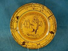 """Royal Doulton Pryde Goeth Before a Fall Ice Skating Yellow 10 5/8"""" Plate"""