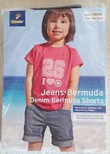 Tchibo TCM Jeans-Bermuda Kurze Hose Denim-Bermuda-Shorts Gr. 110/116 - Neu & OVP