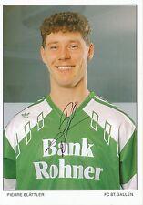 Pierre Blättler   FC St.Gallen  Autogrammkarte signiert 297380