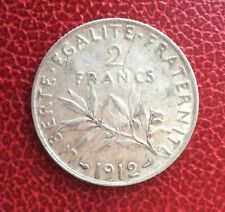 France - Très Jolie monnaie de  2 Francs  Semeuse 1912