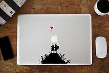 Banksy Garçon & Fille sur une colline Autocollant pour Apple MacBook Air/Pro 11