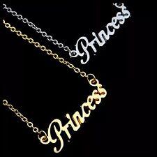 ED5 Princess Word Silver Fashion Chain Necklace BNWT