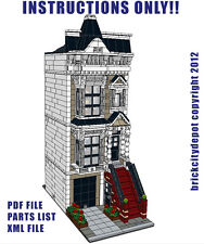 Lego Custom Modular Building San Fran Stick Style House INSTRUCTIONS ONLY!!