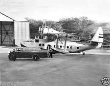1934 Sikorsky S-43 amphibian refueling in 1934 Hawaii 8 x 10 Photograph