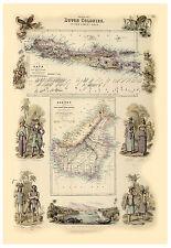Malay Archipelago Indonesia Java Borneo illustrated map Fullarton ca.1872