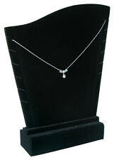De Terciopelo Negro Collar Display para hasta 6 Collares (bdn196bk)
