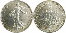 2  FRANCS  SEMEUSE  ARGENT  , 1914  C  CASTELSARRASIN  ,  SUPERBE