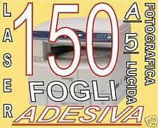 150 ETICHETTE ADESIVE BIANCA cd dvd  lucida COPRENT A5