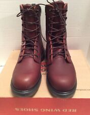 """Redwing Shoes 608 8"""" Lace-Up Work Boots, Size 7.5 D"""