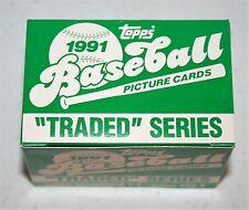 1991 Topps Traded Box set Baseball Card