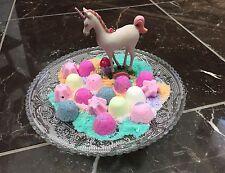 24 Bath Bomb Lot Unicorn Kisses Fun Healthy Birthday Party Favors Gift Fast Ship