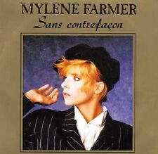 "MYLENE FARMER Sans Contrefacon & SONGTEXT 7"" Single 1987 FRANCE"
