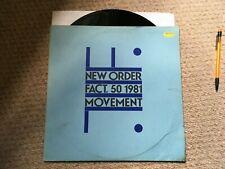 New Order - Movement - Vinyl LP - Fact.50