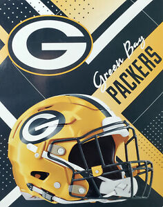 """NFL Green Bay Packers Oversized Silk Touch Throw Blanket  55"""" x 70"""" NEW"""