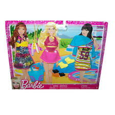 Barbie Fashionistas Day Looks Clothes Bright Beach Outfits 3pk