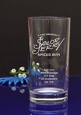 Personalised Sailor Jerry spiced Happy Birthday HI-BALL glass/present/gift59