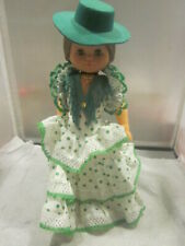 Vintage A. Bordera Onil Plastic And Rubber Doll Spanish Or Mexican Costume