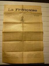 LA FRANCAISE JOURNAL D'INFORMATION ET D'ACTION FEMININES SAMEDI 18 NOVEMBRE 1933