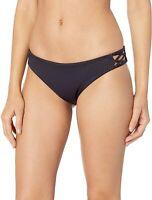 Luli Fama Women's 181705 Bikini Bottom Swimwear Black Size S