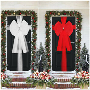 Extra Large Double Deluxe Door Bow Full Wrap Elegant Christmas Traditional Bow