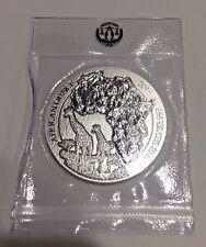 2018 Rwanda African Wildlife Giraffe 1 oz .999 Silver Coin Mint Sealed