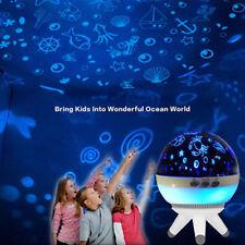 LED Rotating Star Projector Baby Nursery Night Light Kids Room Lighting Gift