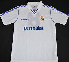 1989-1990 Real Madrid Match cuestión Hummel Home Football Shirt (talle Xl)