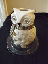 "NEW Yankee Candle Christmas Owl Luminary Tea Light Holder ""sparkling snow"""