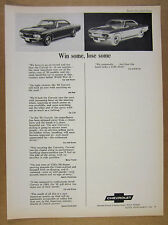 1965 chevrolet Corvair Corsa Sport Coupe car review quotes vintage print Ad
