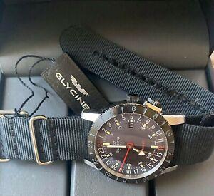 Glycine Airman Base 22 Bi-Color Ref.3887.309.TB6 GMT 3 Time Zone Watch