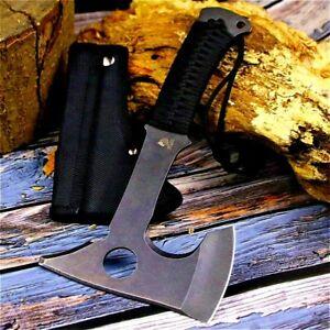 Tomahawk Axe Hammer Hatchet Felling Tactical Firewood Chopper High Carbon Steel