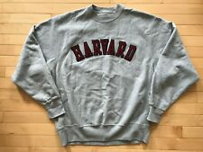 Champion Harvard University Reverse Weave Sweatshirt Sz M Mens Grey Crewneck