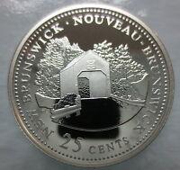 CANADA 1867-1992 ANNIVERSARY 25¢ NEW BRUNSWICK SILVER PROOF QUARTER COIN