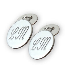 Gemelli tondi argento 925 con iniziali personalizzabili