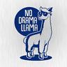 NO DRAMA LLAMA Lama Alpaca Alpaka Blau Blue Auto Vinyl Decal Sticker Aufkleber