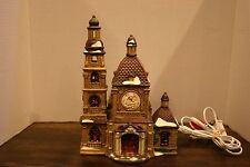 Santa's Workbench - Porcelain Lighted Xmas Village Church St. Mary's Cathedral