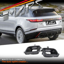 Gloss Black R-Dynamic Style Exhaust Tips for Land Rover Range Velar L560 17-19