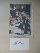 "Keith Lockhart Autographed 3"" X 5"" Index Card with 6"" X 10"" Newspaper Clipping"