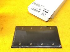 ***NEW*** MULBERRY 87154 4-GANG BLANK FINISH PLATE MATTE BLACK METAL