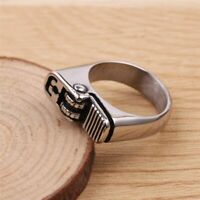 Cool Style Biker Silver Polishing Plated Hot Cigarette Lighter Fashion Men Ring